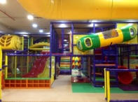Crawl up Tunnel & Spiral Slide at Junior Zone Funkey Monkeys