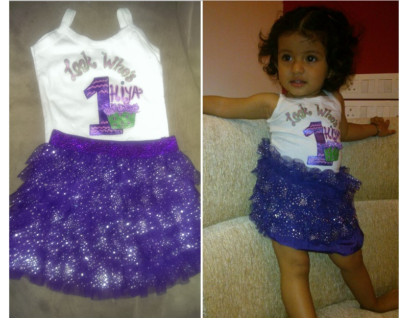 Hand Painted First Birthday Customised Dress