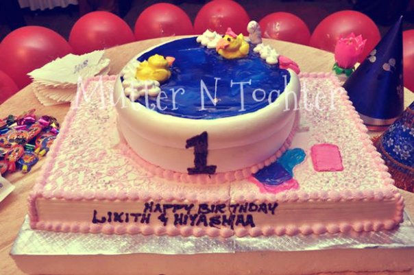 Rubber Ducky Theme Birthday Party Cake