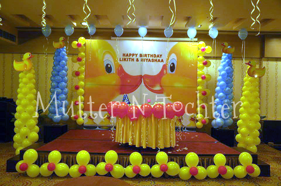 Rubber Ducky Theme First Birthday Party