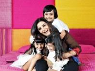 Farah Khan with her kids