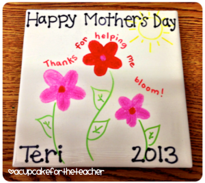 Finger print mothers day activity