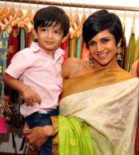 Mandira Bedi with her son