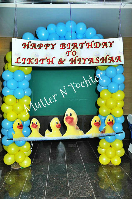 Rubber Duck Themed Photo Booth & Return Gifts