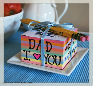 Father's Day note-cube