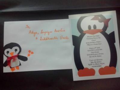 Pingu Party Invitation Cards