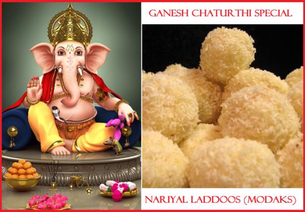 Ganpati spl: Nariyal Laddoos modak