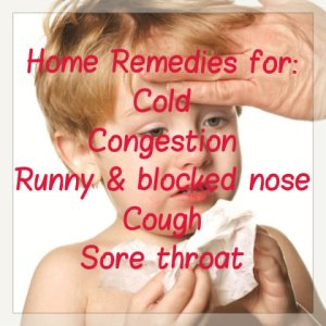 Home Remedies for cold, congestion in kids