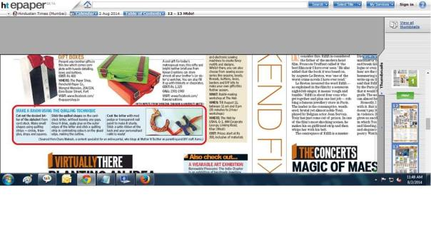 Mutter N Tochter in Hindustan Times (Press)