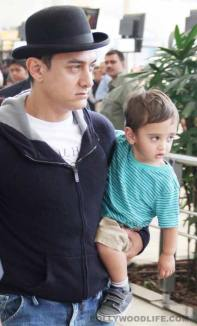 Aamir Khan with his son Azad