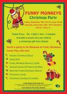 Funky Monkeys Christmas Party