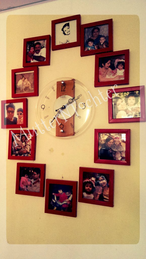 Photo Display Ideas: Family Photo Clock