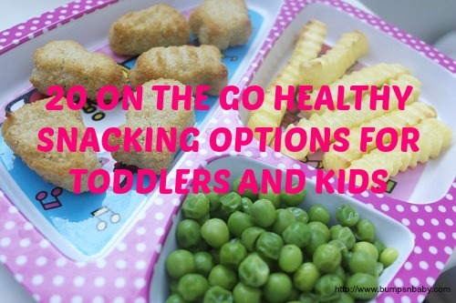 Snacks, finger foods  for kid on the go
