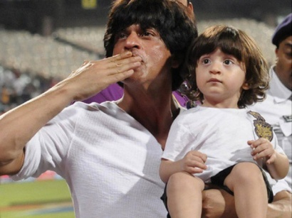 Shah Rukh Khan with Abram Khan