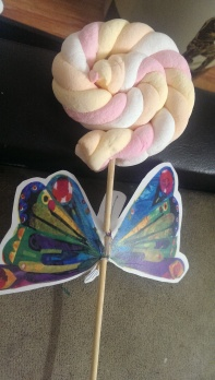 Marshmallow Lollypops at The Very Hungry Caterpillar theme birthday Party