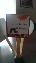 The Very Hungry Caterpillar Birthday Party - Center piece for every table