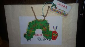 The Very Hungry Caterpillar Party Favor Bag with Personalised Bag Tag