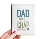 Funny Father's Day Card: Kudos to the man for bearing with the brats
