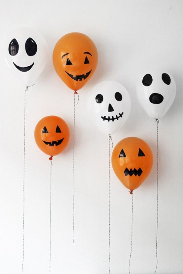 Halloween decor Idea: Spooky Balloons