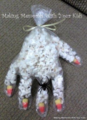 Halloween Party Favor Popcorn Hand