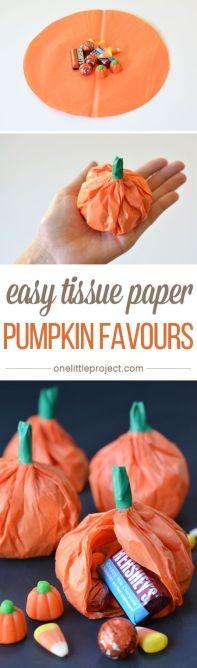 Halloween Party favour tissue paper pumpkin