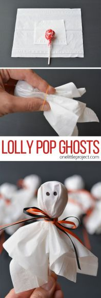 halloween party food: Lollypop ghosts