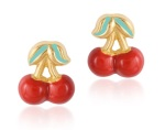 Gempetit Jewellery Calendar: Complete her Christmas look with these red cherry earrings!