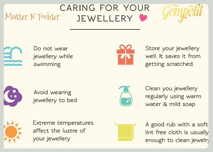 10 Tips for taking care of your jewellery