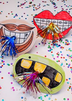 new year party with kids props