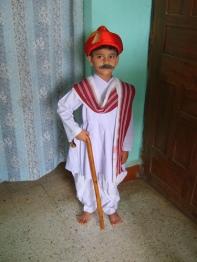 How to dress up a child as Bal Gangadhar Tilak