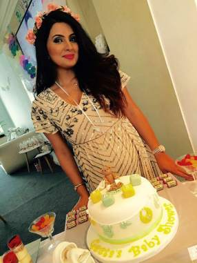 Harbhajan Singh's wife Geeta Basra flaunts a chic own on her baby shower