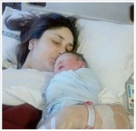 Kareena Kapoor Khan with her baby Taimur