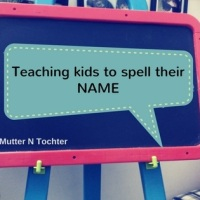 Fun ways to teach children how to spell their name