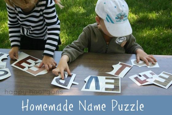 Fun ways to teach kids to spell their name: Name Puzzle