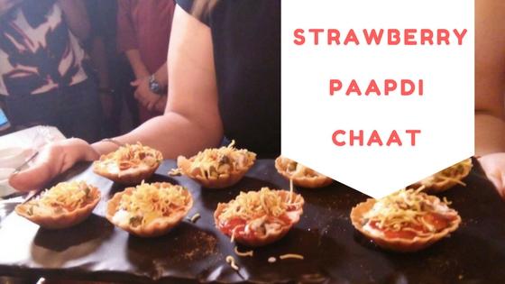 Strawberry Papdi Chaat